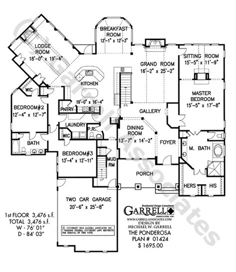 ponderosa ranch house floor plan ponderosa house plan 01424 floor plan mountain style house plans ranch style house plans