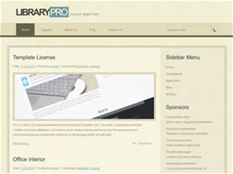 css templates for library website librarypro free website template free css templates