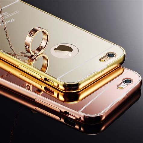 Bumper Mirror Iphone 5s G Gold for apple iphone 5 5s 5g fundas gold plating aluminum
