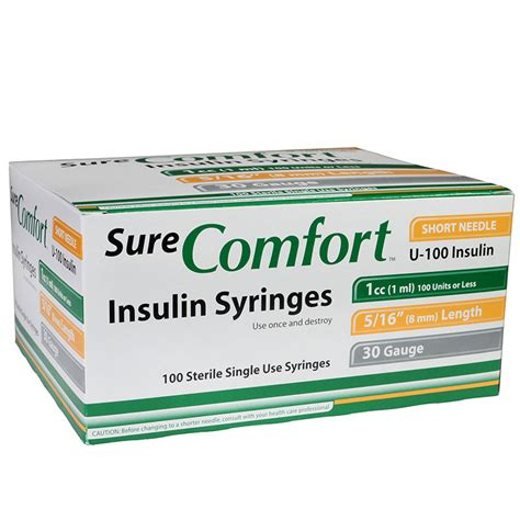 sure comfort insulin syringes surecomfort insulin syringes 786227701059 needles
