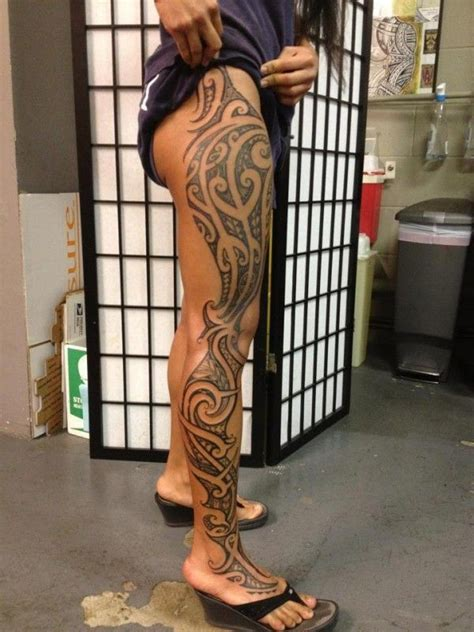 tribal tattoos on legs best 20 hawaiian tribal tattoos ideas on