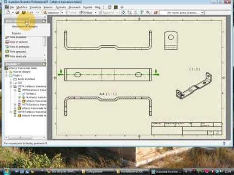 messa in tavola tutorial inventor messa in tavola della traversa telaio
