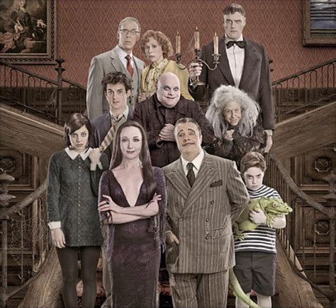 our house musical characters michelle obama and daughters attend the addams family on