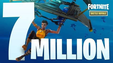 fortnite player count fortnite battle royale player count reaches 7 million