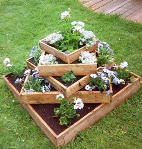 Stacked Planter Boxes by Stacked Planter Box Re Cycled Pallet