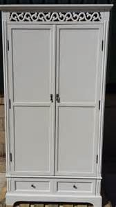 white tulle shabby chic armoire wardrobe