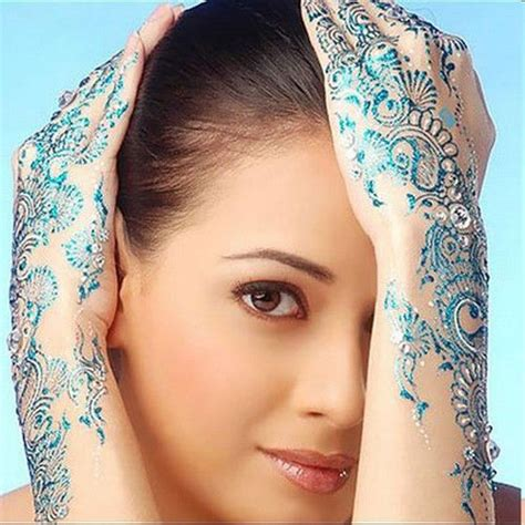 blue henna tattoo arabic henna mehndi designs fashionmasti
