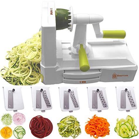 Vegetable Spiral Slicer brieftons 5 blade spiralizer strongest and heaviest duty