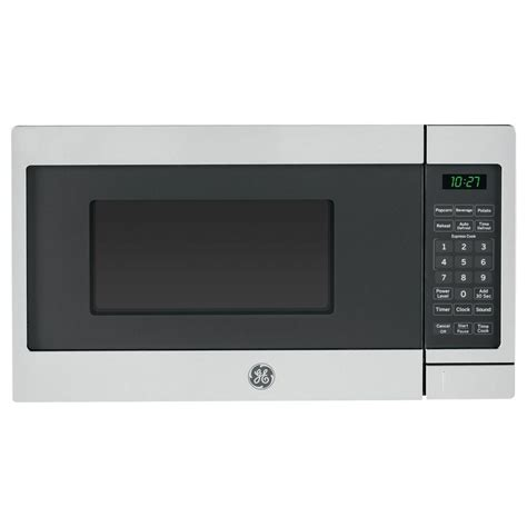 Best Small Countertop Microwave by Ge 0 7 Cu Ft Small Countertop Microwave In Stainless Steel Jes1072shss The Home Depot