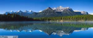 Mountain View Light Rail Herbert Lake Canadian Rocky Mountains Banff National