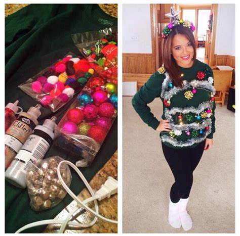 29 easy diy ugly sweater for christmas godfather style