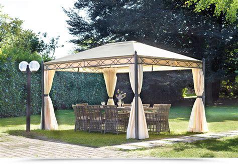 gazebo in giardino gazebo 3x4 in ferro da giardino completo di tende laterali