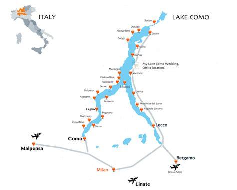 lake como italy map lake como travel and transport my lake como wedding