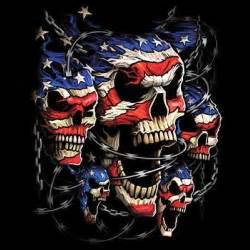 Patriots Day Free Online details about cool tshirt patriotic skulls barb wire
