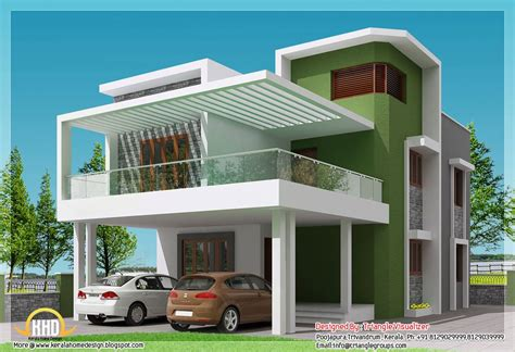 color design of house simple modern home square feet bedroom contemporary kerala