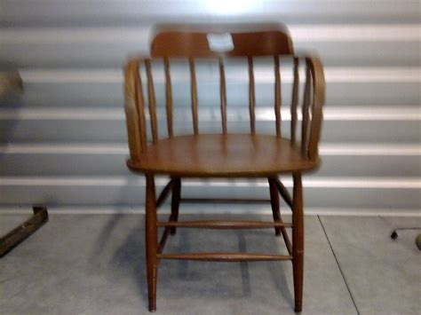 Wooden Captains Chairs by Captain Chair I Antique