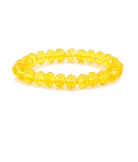 yellow bead runescape voylla yellow chunky beaded bracelet buy voylla