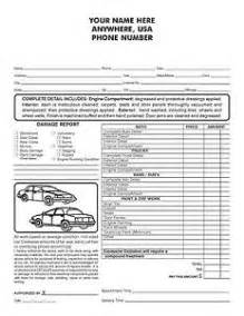 100 2 part auto detailing invoice work order ebay