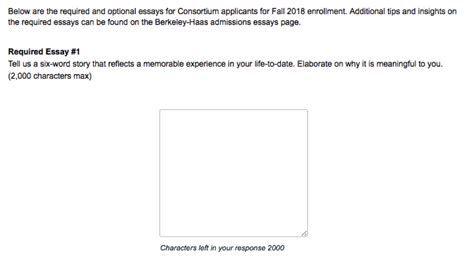 Mba Haas Essay by Inside The Consortium Application Clear Admit