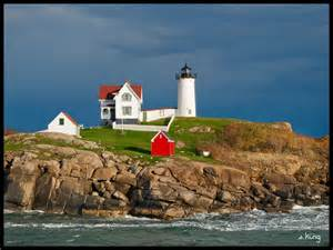 nubble lighthouse lights panoramio photo of nubble lighthouse