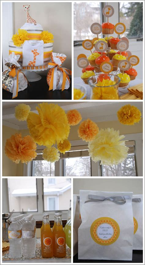 giraffe themed baby shower decorations giraffe baby shower favors ideas