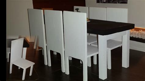 diy  scale doll dining table set youtube
