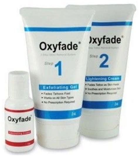 oxyfade kit tattoo cream removal perfect tattoo removal