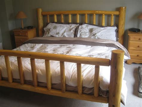 Log King Bed Frame Log Bedroom Furniture Home Design