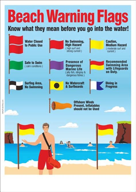 water safety poster beach warning flags safety poster shop