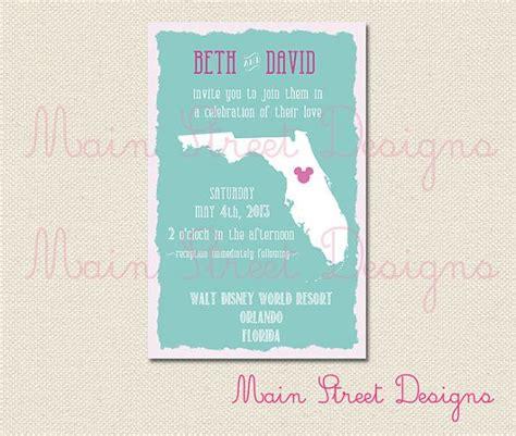 florida wedding invitations florida state wedding invitation
