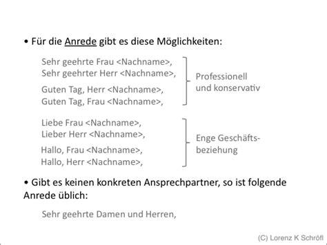 Schweiz Brief Anrede Korrespondenz Gesch 228 Ftsbrief Powerpoint Pr 228 Sentation Ppt