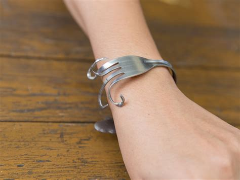 how to make fork jewelry how to make a fork bracelet 10 steps with pictures