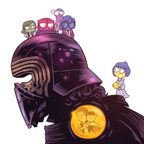 inside the broken mind of kylo ren wars wavelength books artist s wars inside out mash up will warm your