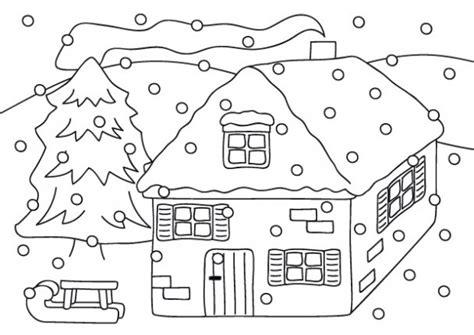 imagenes de invierno para niños para colorear invierno