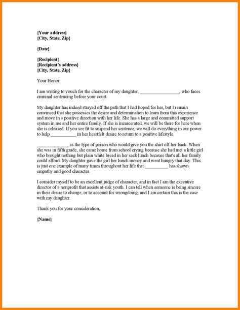 Character Letter To Judge From Employer 7 Character Reference Letter Judge Resume Reference