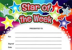 Of The Week Certificate Template by Of The Week Rainbow Certificates Sparkling