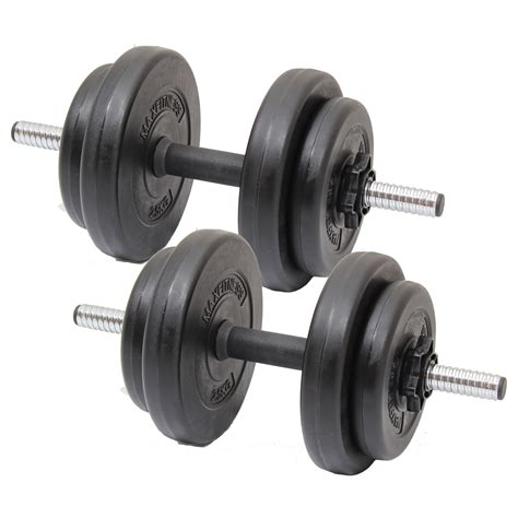 max fitness 15kg dumbbell free weights set home
