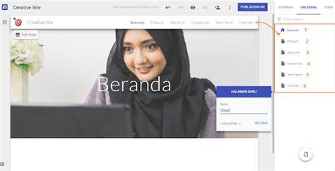 membuat menu navigasi website cara membuat menu navigasi website via google sites