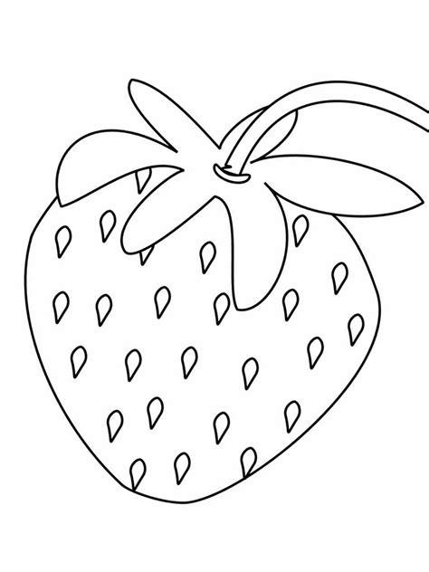 Ausmalbilder, Malvorlagen ? Erdbeere kostenlos zum