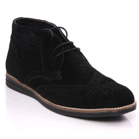 mens black brogue boots uk unze jayd suede leather chukka desert brogue boots