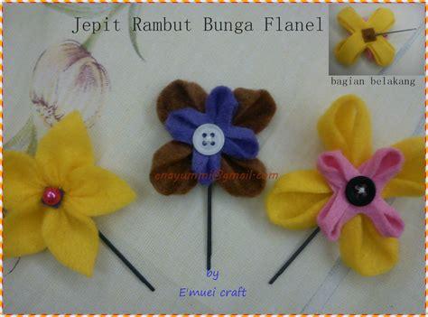 Jepit Rambut Bross untuk sahabat muei kerajinan tangan dari kain flanel