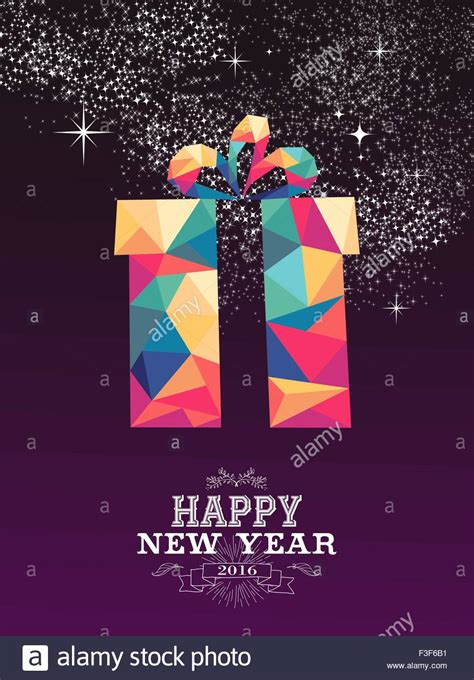 new year greeting posters happy new year 2016 greeting card or poster design