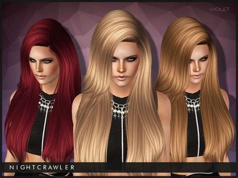 sims 3 resource hair violet hairstyle by nightcrawler for ts3 by the sims