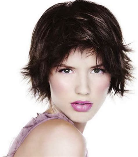 short haircuts for fine dark hair short hairstyles for fine hair oval face