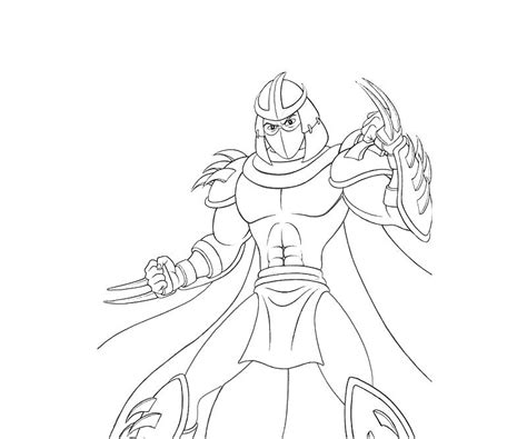 Shredder Coloring Pages free tmnt shredder coloring pages