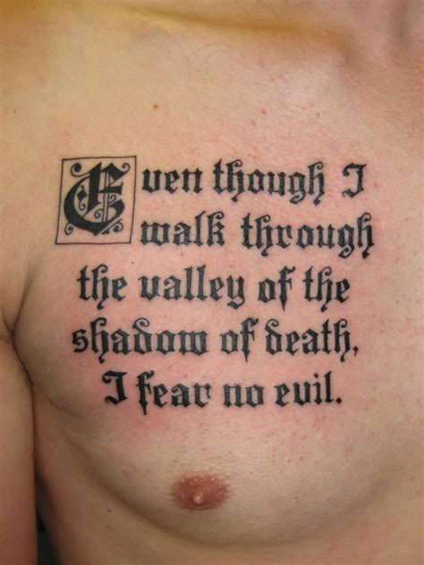 tattoo in the bible