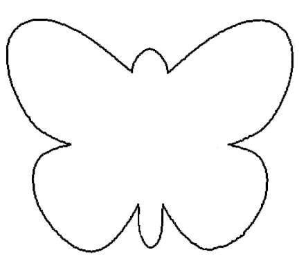 butterfly outline template clipart best