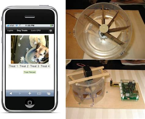 treat dispenser iphone controlled remote treat dispenser slashgear