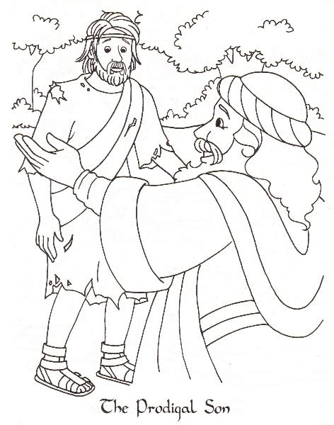 Free Coloring Pages Of E Lost Son Prodigal Coloring Page