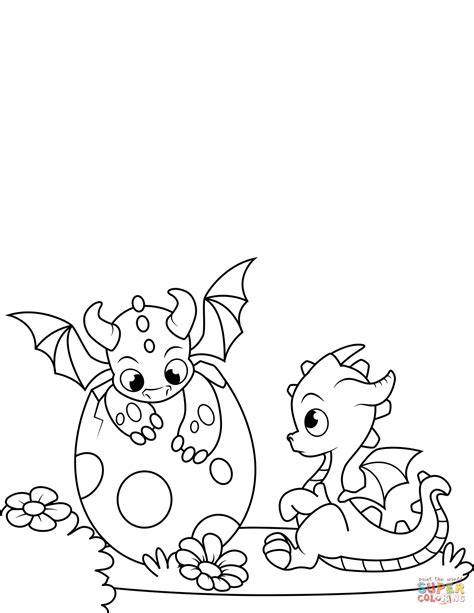coloring pages dragons newly hatched dragons coloring page free printable